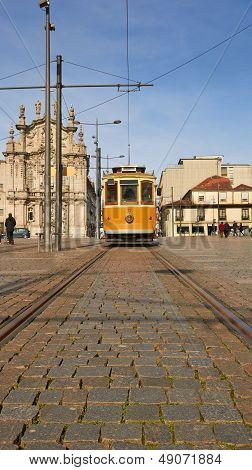historical street car in Porto, Portugal