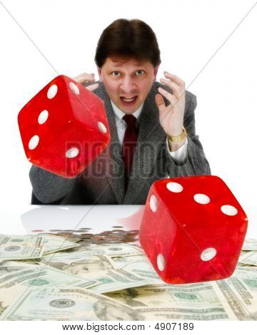 Businessman Playing Craps