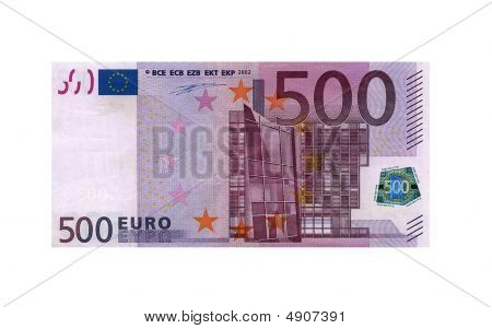 500 Euro Bank Note