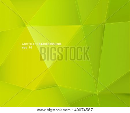 Abstract green paper background with place for your text.