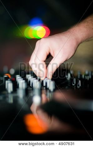 Close-up Of Deejays Hand