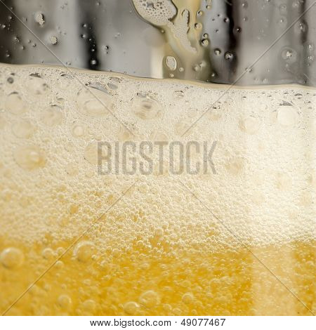 Beer With Frothy Foam