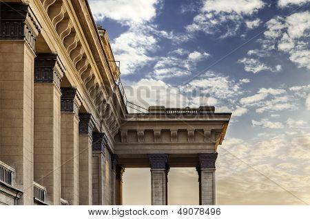 Novosibirsk Opera Theater Architectural Detail Of Columns