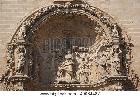 Bas-relief Of Cathedral La Seu