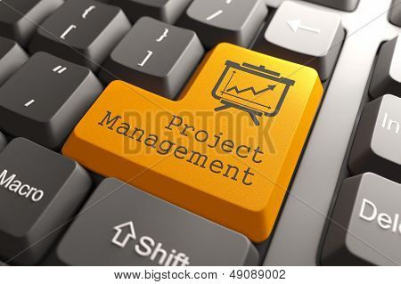 Keyboard with Project Management Button.