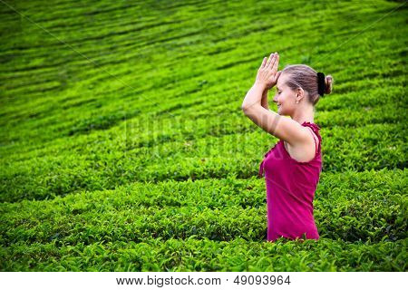 Praying Woman In Tea Plantations