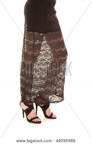 Woman Legs Lace Skirt