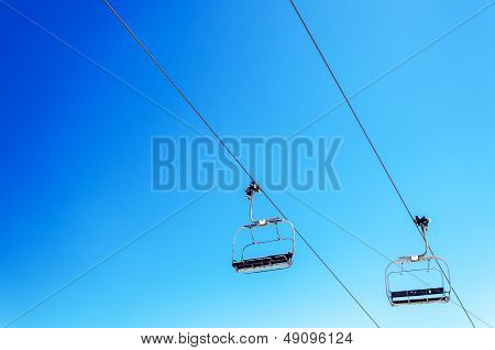 Chairlift And Sky