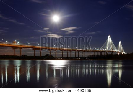 Full Moon Over Ravenel Bridge