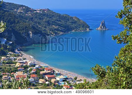 Agios Gordios beach at Corfu island