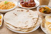 stock photo of biryani  - Chapatti roti - JPG