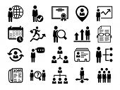 stock photo of hierarchy  - Human resource icons - JPG