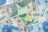 pic of zloty  - Polish zloty paper money for background - JPG