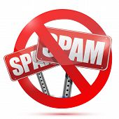 picture of spam  - no spam allow illustration design over a white background - JPG