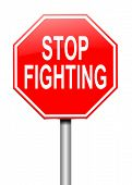 foto of stop fighting  - Illustration depicting a sign with a stop fighting concept - JPG