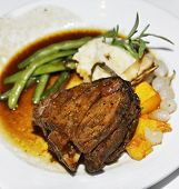 image of lamb shanks  - Roasted Lamb Shank With Vegetables - JPG