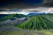 picture of bromo  - landscape of Volcanoes in Bromo mountain at Java Indonesia - JPG