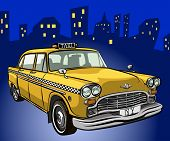 stock photo of street-rod  - taxi cab - JPG