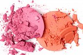stock photo of blush  - Crushed blush isolated on white  - JPG