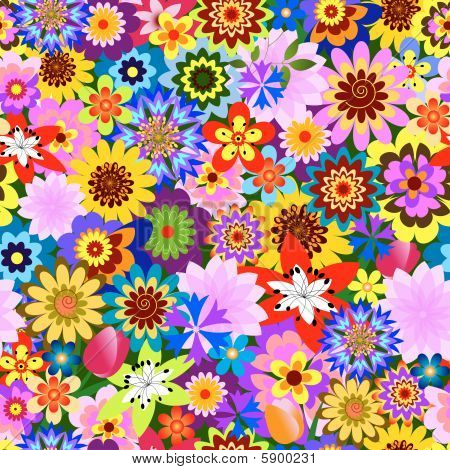abstrakt seamless floral Pattern (Vector)