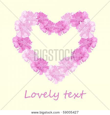 Floral heart on light background