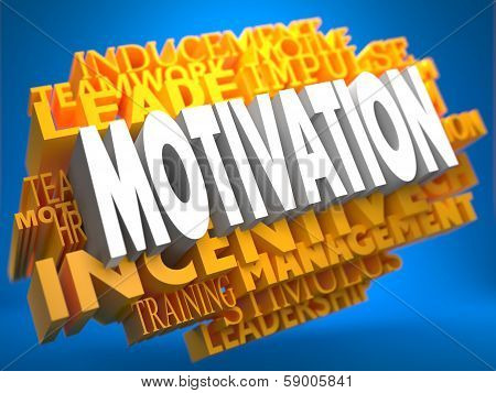 Motivation - Wordcloud Concept.