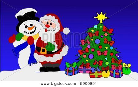 Santa and Snowman - Friends