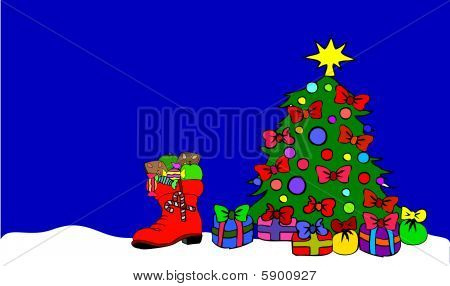 Christmas Tree with boot