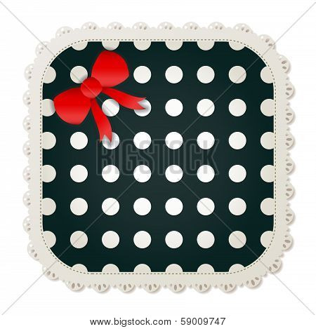 Polka Dot Sewing Patch