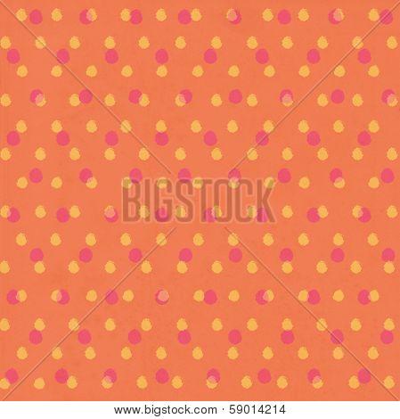 Orange Polkadot Pattern