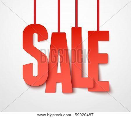 Sale paper. Vector.