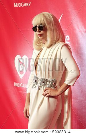 LOS ANGELES - JAN 24: Lady Gaga at the 2014 MusiCares Person Of The Year event at the Convention Center on January 24, 2014 in Los Angeles, CA