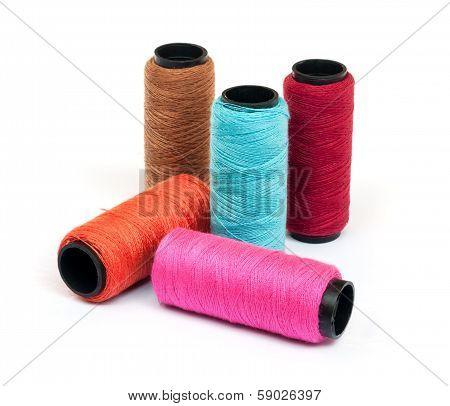 Spool Of Coloured  Thread.