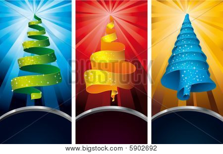 3 christmastree labels