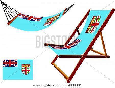 Fiji Hammock And Deck Chair Set