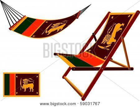Sri Lanka Hammock And Deck Chair Set