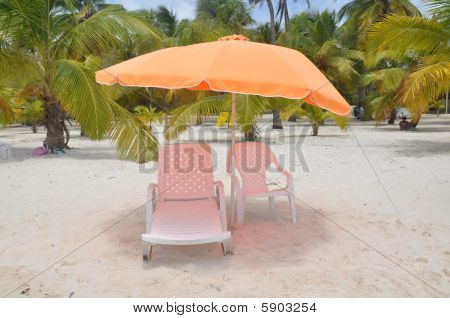 orange sunshade