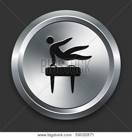 Pommel Icon on Metallic Button Collection