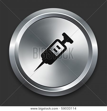 Injection Icon on Metallic Button Collection
