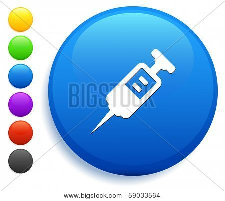 Injection Icon on Round Button Collection