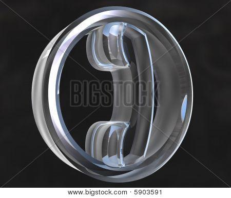 Telefon-Symbol Symbol in Glas