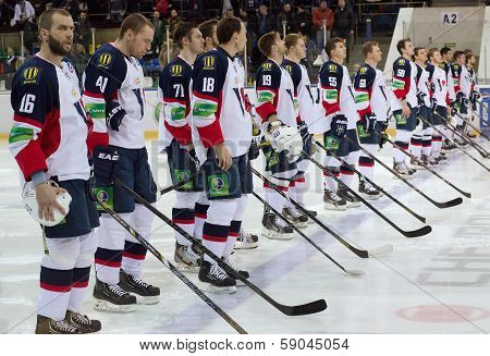 Slovan Team Just Before Game