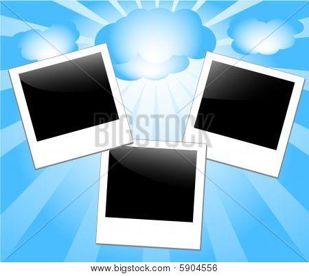 vector illustration of photo-frames