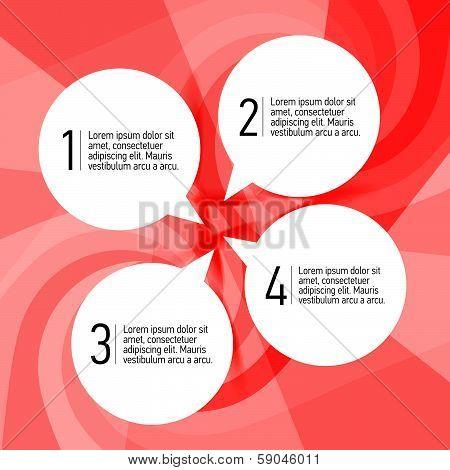 Attractive four Speech bubbles