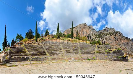 Ancient Theater, Delphi, Greece, 180 Degrees Photo