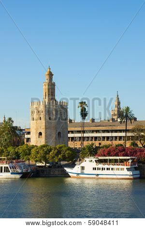 Golden Tower (Torre del Oro) of Sevilla, Spain