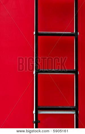 Escada do caminhão de incêndio