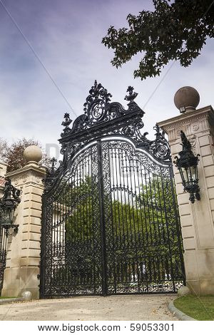 Luxury Gate To Gilded Age Mansions: The Breakers