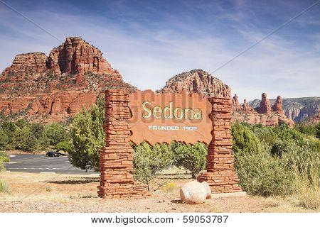 Welcome Sign To Sedona Arizona