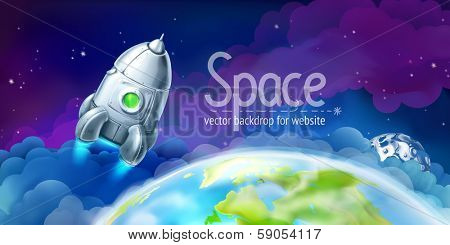 Space, vector background for website